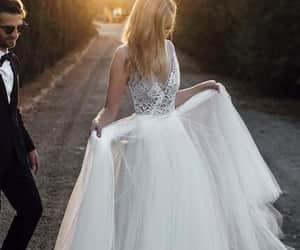dress, bridal dress, and fashion image