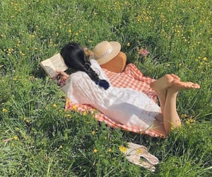 girl, picnic, and cottagecore image