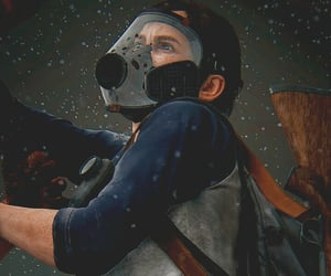 gas mask, videogame, and ellie image