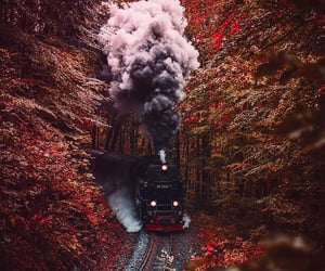 autumn, train, and aesthetic image