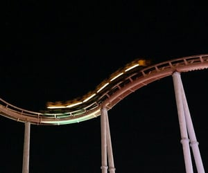 night, playground, and rollercoaster image