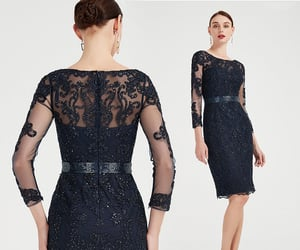 lace dress, long sleeves, and mother dress image