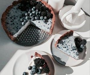 food, cake, and blueberry image