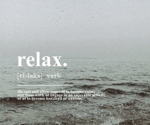 beach, calm, and quote image