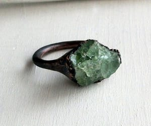 jewelry, ring, and emerald image