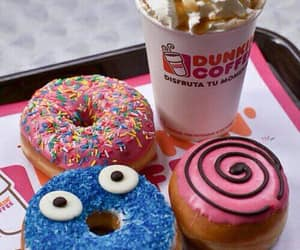coffee, colourful, and donut image