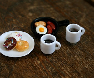 breakfast, coffee, and donuts image