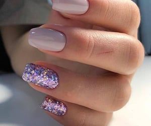 glitters, nails, and pink image