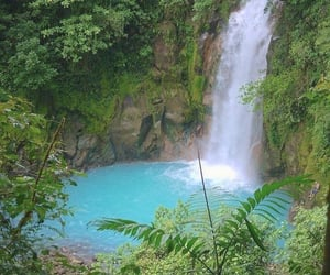 waterfall, nature, and tropical image