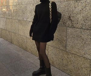 everyday look, black ankle boots, and chic elegant image