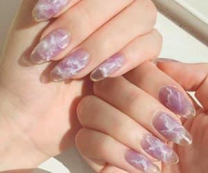 nail art, nail polish, and ring image