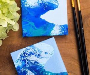 acrylic, wave, and fluidart image