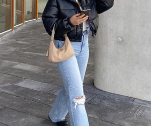black boots, everyday look, and white crop top image