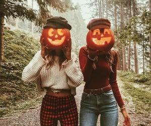 pumpkin, Halloween, and friends image