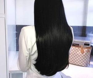 hair, black, and black hair image