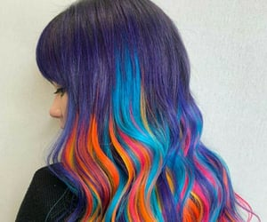 awesome hair, colored, and colors image
