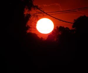 black, dark, and sun image
