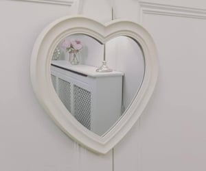 mirror, white, and aesthetic image