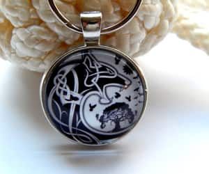 etsy, wolf necklace, and norse jewelry image