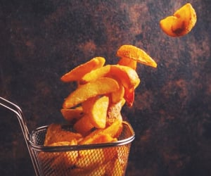 food and potato wedges image