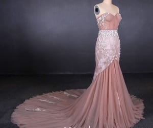 evening dress, long dress, and pink dress image