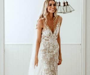 wedding dress, weddings, and bridal dress image