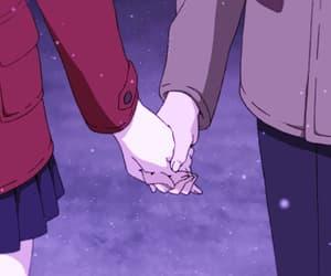 anime, purple, and weeb image