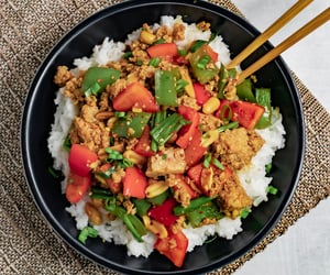 chinese, food porn, and rice image