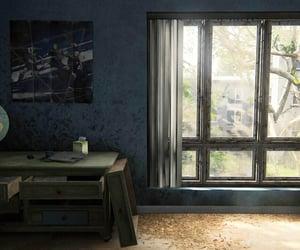 abandoned, blue, and dresser image
