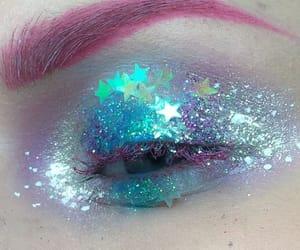 beautiful eyes, eye, and eye makeup image