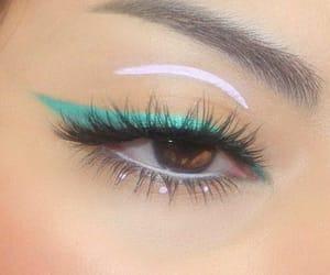 beautiful eye makeup, make up, and beautiful eyes image