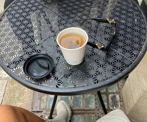 blogger, chloe boots, and coffee image