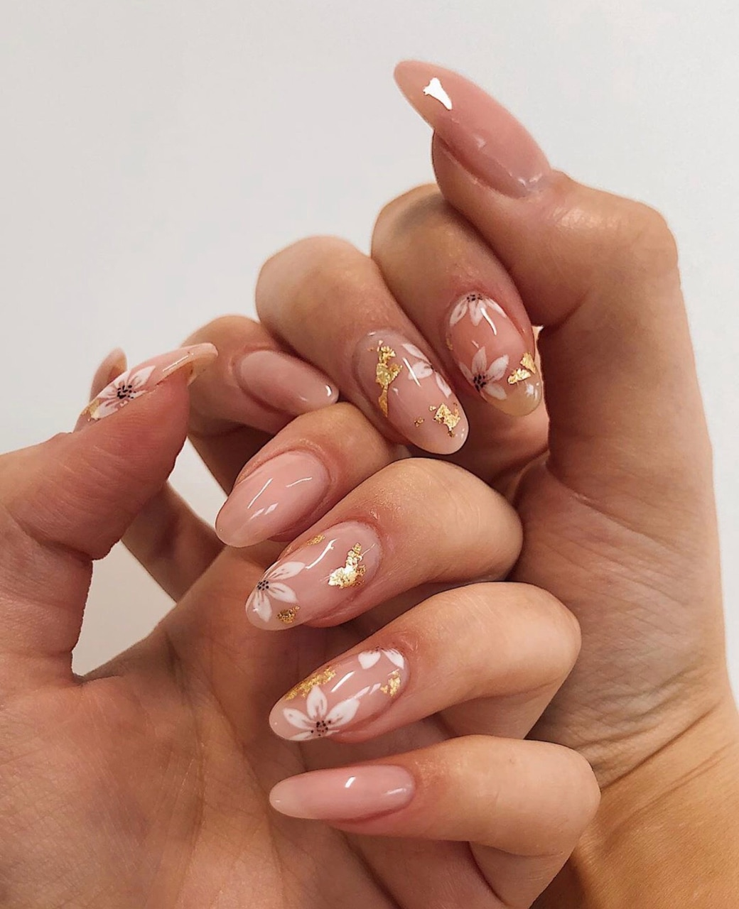 flowers, girly, and nail art image