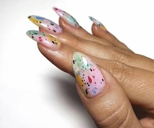 colors, girly, and nail art image
