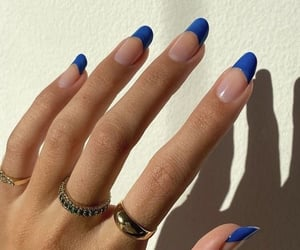 blue, fashion, and nails image