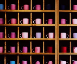 colorful, shelves, and cups image