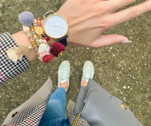 arm candy, bracelets, and fall outfit image