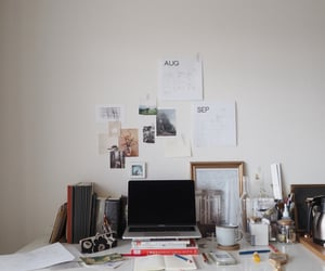 art, interior, and books image
