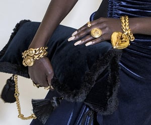 Super Model, velvet, and gold bracelets image
