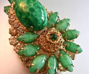 etsy, dimensional 3d, and peking glass brooch image
