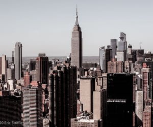 architecture, city, and manhattan image