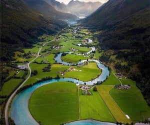 landscape, norway, and norvège image