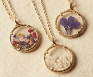 flowers, necklace, and jewelry image