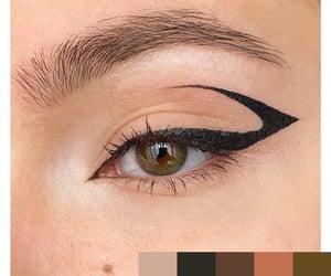 art, black, and eye image