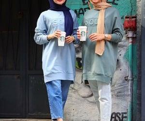 hijab, modest, and muslim girls image