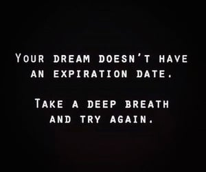 quotes, Dream, and try image