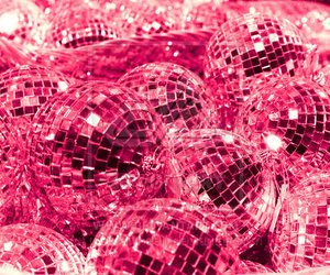 pink, disco, and glitter image