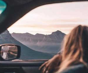 girl, travel, and car image