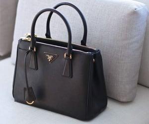 bag, black, and Prada image