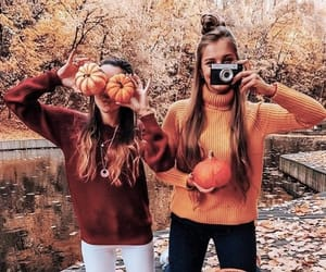 autumn, besties, and fashion image